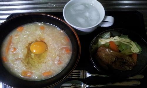 中華雑炊&豚角煮