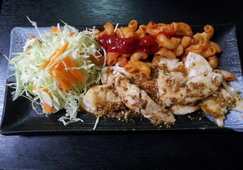 鶏ささみ・粒マスタードソース