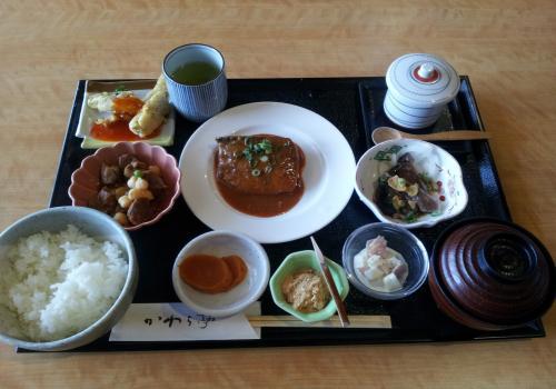 かわら亭・鯖の味噌煮定食