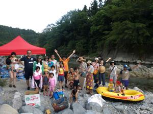 親子合宿2011付知川