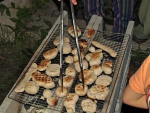 親子合宿用パン焼き