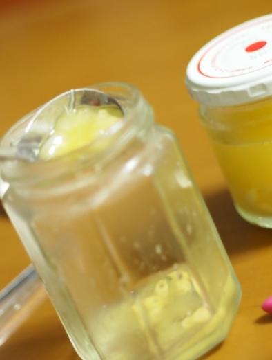 ゼリー状になった橙果汁