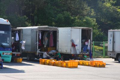 衣装トラック