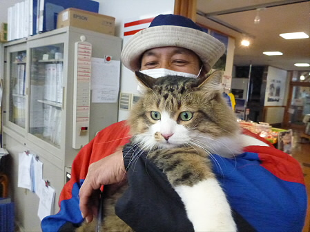 平笠の吉田さんとチュウちゃん01(2012.12.27)