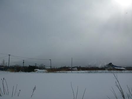 ビジターセンターからの岩手山01(2013.1.19)