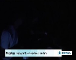 Nepalese restaurant serves diners in dark