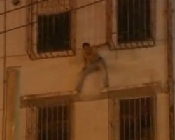 NINJA Police abseil in to save man