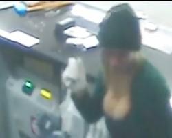 Large breasted Bandit terrorises service station