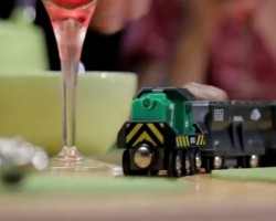 Wooden Train Set Dining Table