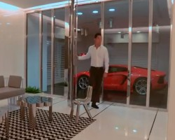 Millionaire Parking Lambo In His Living Room