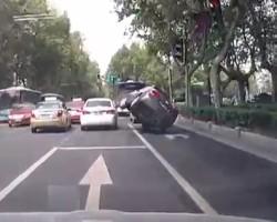 Honda Civic Rollover Accident