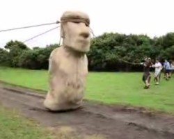 Easter Island moai walked