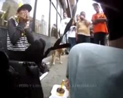 Man celebrates homeless womans birthday