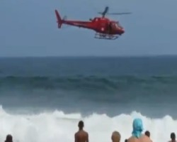 Four survive chopper crash in ocean off Brazil