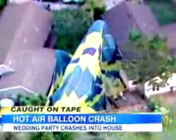 Hot-Air Balloon Wedding Crash Caught on Tape in San Diego