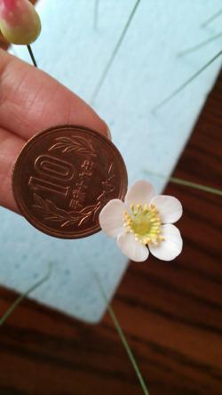 イチゴの花粘土2013.7.3