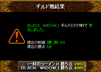 BLACK WIDOW結果