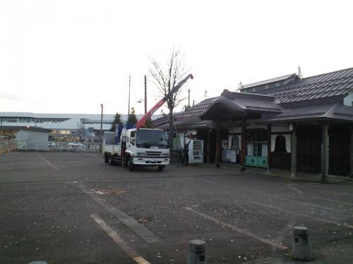 ひっそり旧飯山駅(26.11.10)