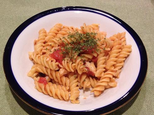 海老とタコとトマトのパスタ