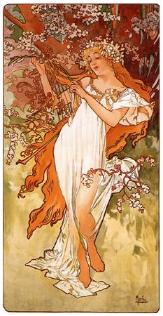 ミュシャ「春」