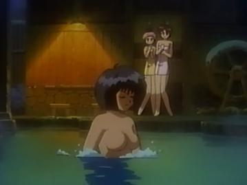 ありさ 胸裸 温泉入浴シーン