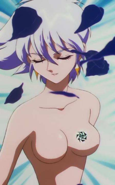 キューティーハニーF 葉月聖羅の胸裸変身シーン4