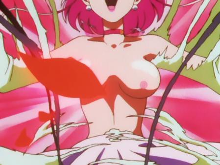 キューティーハニーF 如月ハニーの胸裸変身シーン乳首24