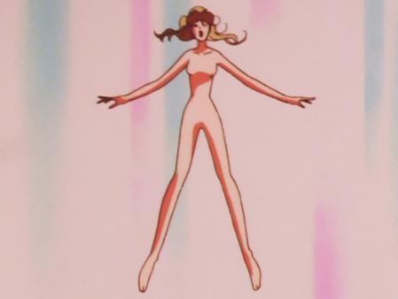 キューティーハニーF 如月ハニーの全裸変身シーン37