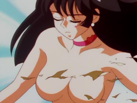 キューティーハニーF 如月ハニーの胸裸変身シーン70