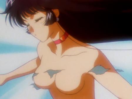 キューティーハニーF 如月ハニーの胸裸変身シーン71