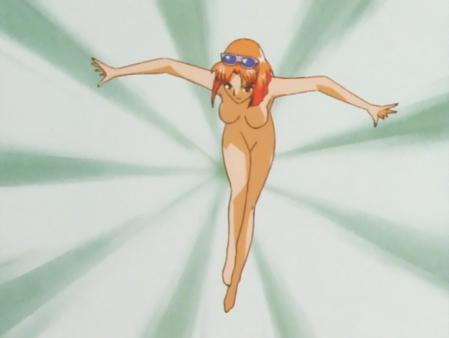 キューティーハニーF 如月ハニーの全裸変身シーン81