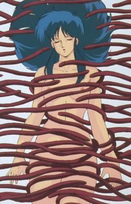 ユリ 全裸で触手に襲われる(幻覚)