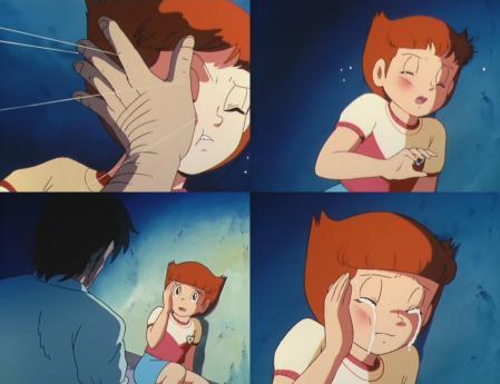 エスパー魔美11話 平手打ちされて泣くシーン