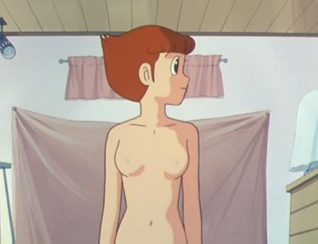 エスパー魔美13話 佐倉魔美の全裸ヌードモデル2