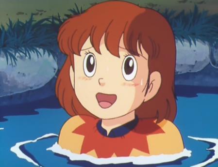 エスパー魔美 佐倉魔美が池に落ちたシーン