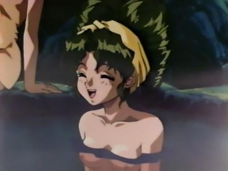 アニメ卒業Graduation 志村まみの胸裸温泉入浴シーン乳首1