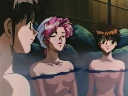 アニメ卒業Graduation 高城麗子と加藤美夏の胸裸温泉入浴シーン3
