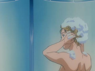 ガンダム0083 ニナ 胸裸シャワーシーン
