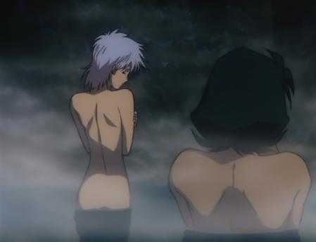 ガンダム第08MS小隊 アイナの全裸温泉入浴シーン1