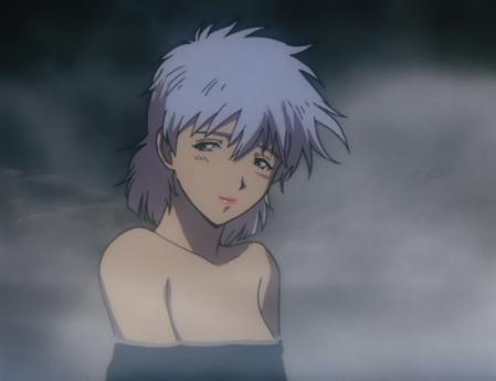 ガンダム第08MS小隊 アイナの胸裸温泉入浴シーン3