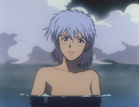 ガンダム第08MS小隊 アイナの胸裸温泉入浴シーン4