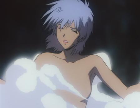 ガンダム第08MS小隊 アイナの胸裸温泉入浴シーン5
