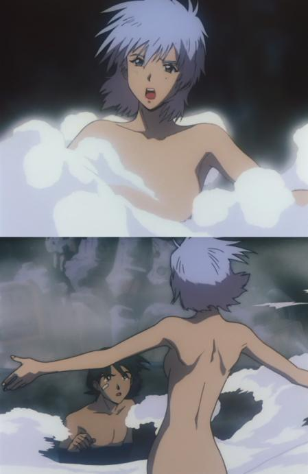 ガンダム第08MS小隊 アイナの全裸温泉入浴シーン2