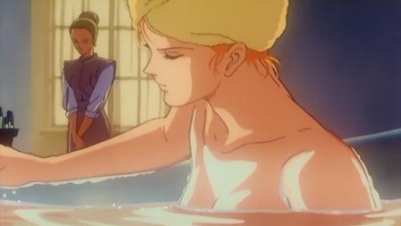 機動戦士ガンダムF91 セシリー・フェアチャイルドの胸裸入浴シーン3
