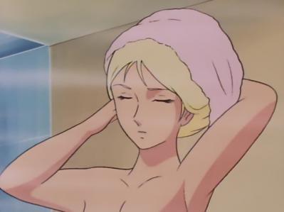 ガンダムTV版37話 セイラ 入浴シーン