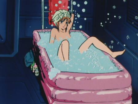 機動戦士ガンダムZZ エルピー・プルの胸裸入浴シーン6
