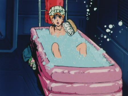 機動戦士ガンダムZZ エルピー・プルの胸裸入浴シーン7