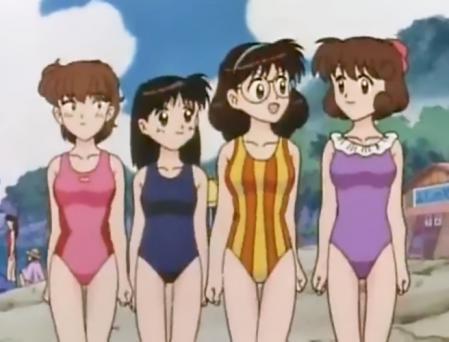 水色時代 高幡多可子と河合優子と仙川万里(まりりん)と平山るみ子の水着姿8