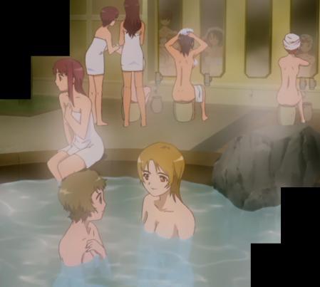 舞-乙HiME4話の入浴シーン1