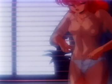 A子 胸裸パンツ